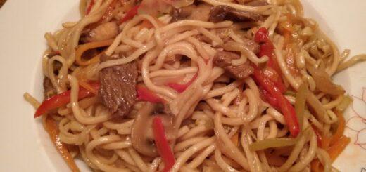Çin Usulü Sebzeli Noodle